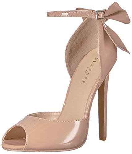 Pleaser SEXY-16 Stiletto Heel, Peep-Toe d'Orsay Pumps, Lack-Schwarz, 35-44, Nude Pat, 37 EU