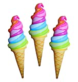 Inflatable Ice Cream Cones For Party Decorations And Party Favors - 36 Inch Ice Cream (Pack Of 3)