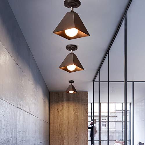 LHTCZZB Classic Macaron Color Plafón nórdico moderno minimalista Plafón Dormitorio Sala de estar Balcón Bañador de pared E27 Decoración del hogar Araña Clase energética A ++ (Color : Negro)