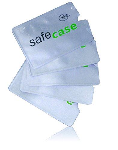 MakakaOnTheRun RFID Blocker NFC Schutz Kreditkartenhülle für EC-Karte, Bankkarte, Kreditkarte, Personalausweis (SafeCase)