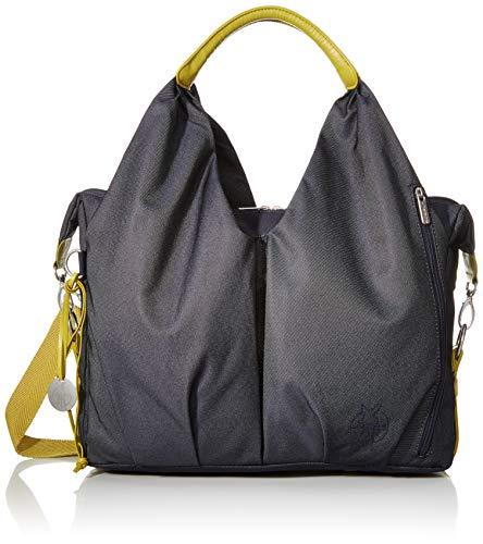 LÄSSIG Baby Wickeltasche nachhaltig inkl. Wickelzubehör nachhaltig produziert/Green Label Neckline Bag, jeansblau