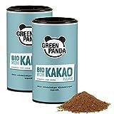 Cacao puro en polvo orgánico de los mejores granos de cacao, cacao en polvo sin azúcar y sin grasa, probado y certificado en laboratorio, 2 x 125g de Green Panda