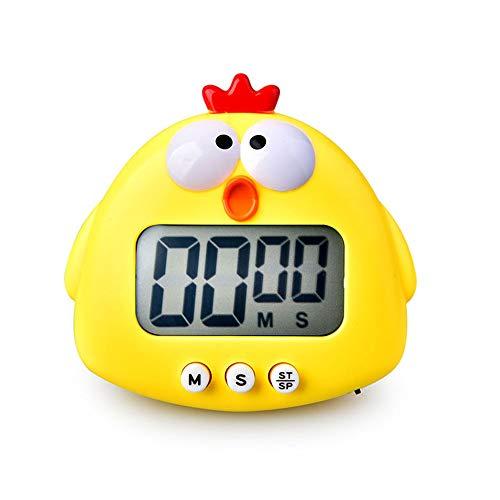 MAEKIJOY Digitaler Küchentimer Elektronisch Stoppuhr Timer mit Display, Magnet, große Ziffern Anzeige, 60 Minuten Küken Countdown Eieruhr Kurzzeitmesser Küchenwecker Küchenuhr