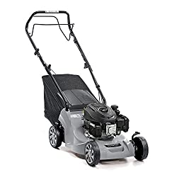 39cm cutting width Self propelled 123cc Mountfield ST120 OHV Autochoke engine 3 lever cutting height adjustment 25-70mm cutting height / 5 positions