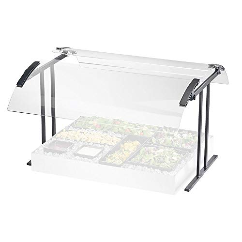 Cal-Mil 2027-6-74 Table Mount Buffet Guard, Double Face, 73.25' W x 27.25' D x 21.5' H, Silver