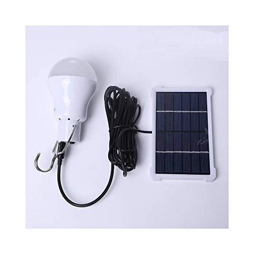 SGJFZD Lámpara LED LED de LED LED Portátil Lámpara LED 140lm Carga de energía Solar Lámpara LED de LED 5V Panel Solar para Camping al Aire Libre LED Luces de Tiendas de campaña (Color : White)