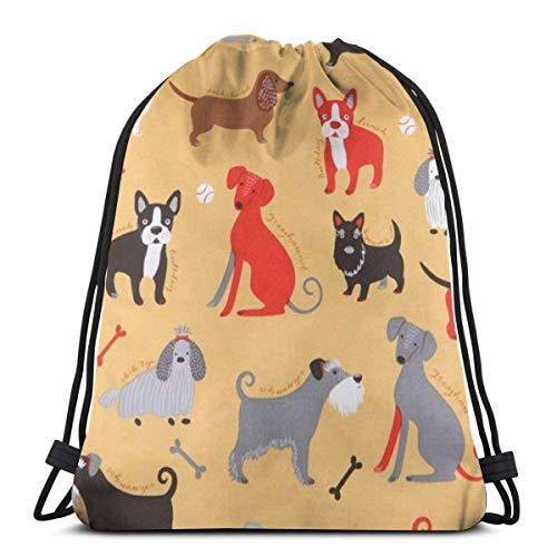 LUCKY Home Mochila con cordón para guardar ropa de senderismo y para adultos, con diseño de perro