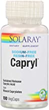 Solaray - Capryl Sodium-Free Resin-Free - 100 Vegetarian Capsules