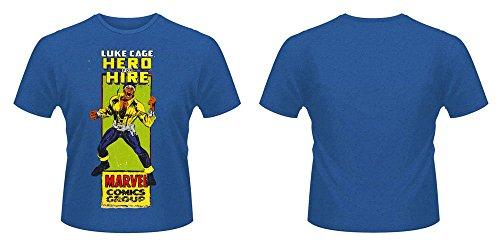 Plastic Head Marvel Luke Cage Comic Group T-Shirt, Bleu, S Homme