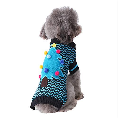 Vestiti per l'albero di Natale per cani Vestiti per Halloween per cani Vestiti per Halloween per animali Vestiti invernali per animali Maglione caldo per cani Adatto a cani di piccola e media taglia,L