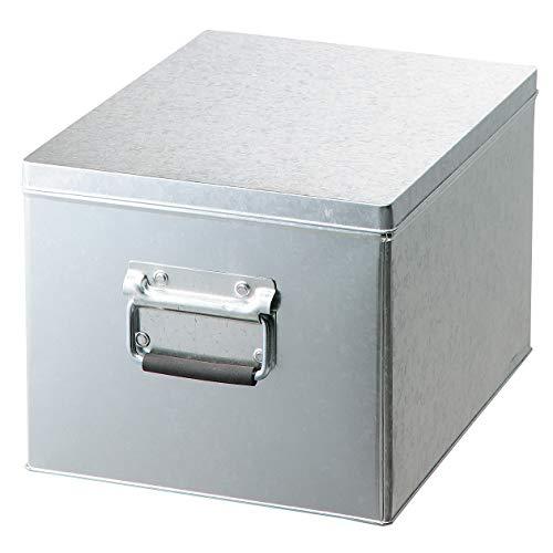 無印良品 トタンボックス・フタ式・大 約幅25.5×奥行33×高さ21cm 61417691
