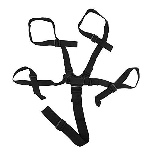 Cintura di sicurezza universale a 5 punti Cintura di sicurezza Cintura di sicurezza Cintura di sicurezza Sedia da pranzo di alta qualità (colore: nero)