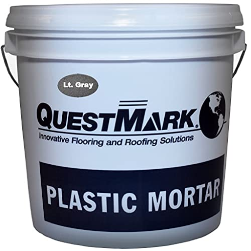 QuestMark 2110 High Traffic Epoxy Concrete Floor Patch and Resurfacer - 2 Gallon Unit, Light Gray - Three Component 100% Solids Mortar with High Impact and Abrasion Resistance