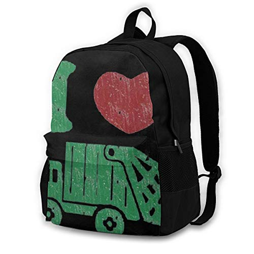 I Love Trash Garbage Trucks Outdoor Cycling Backpack Capacity Antitheft Adult Backpack