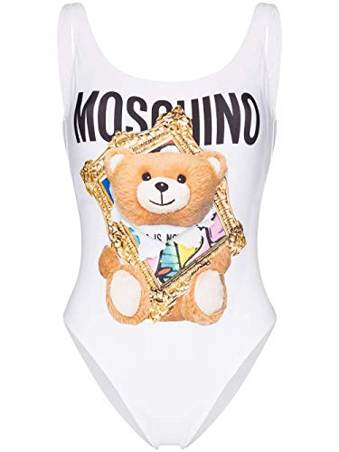 Luxury Fashion | Moschino Dames A420604751001 Wit Elasthaan Badpakken | Lente-zomer 20