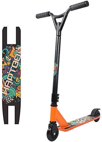 HAPTOO Stunt Scooter - Robuster Funscooter mit ABEC 9 Kugellagern, Pro Kickscooter, Tretroller Roller Orange