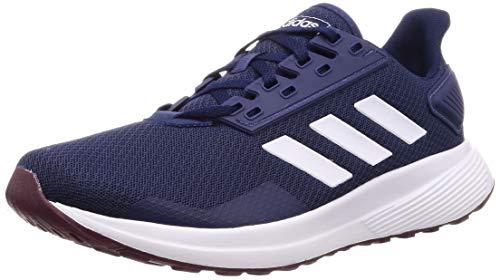 adidas Duramo 9, Zapatillas de Entrenamiento Hombre, Azul (Dark Blue/Footwear White/Maroon 0), 43 1/3 EU
