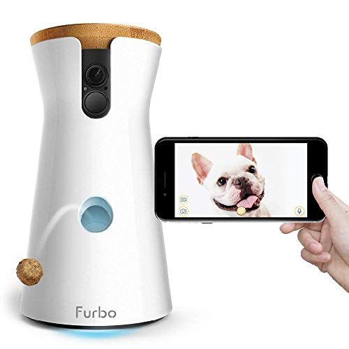 Furbo Dog Camera: Full HD Wifi Pet Camera with 2-Way-Audio, Treat Tossing,...