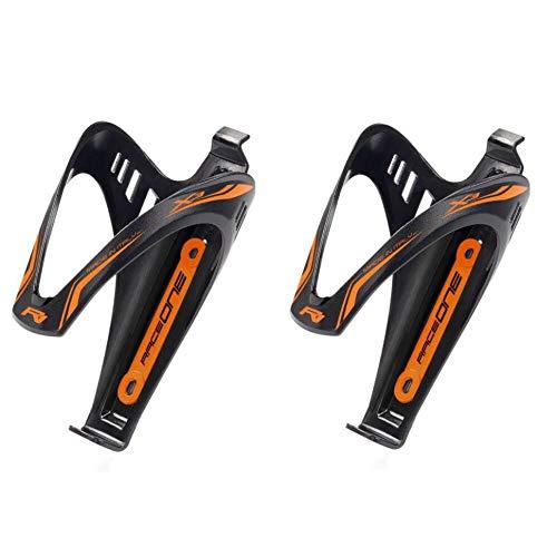 Coppia Portaborraccia X3 Orange Fluo Matt Porta Borraccia per Bicicletta Ideale per Bici Race/MTB/Gravel/Trekking Bike. Finitura Opaca. Colore Nero/Arancione Fluo. 100% Made in Italy (RO_2X3_OFL)
