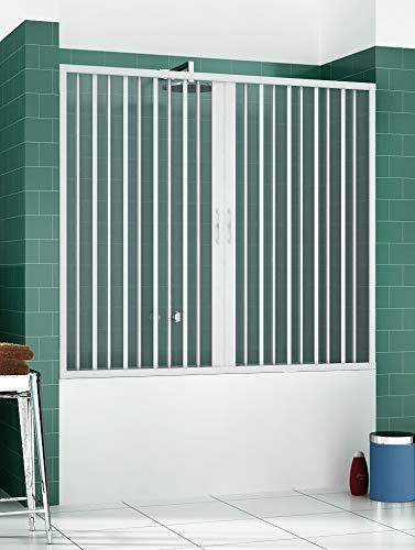 ROLLPLAST PINTO PVC Badewannefaltwand 170 cm mit zentraler Öffnung Mod. Nina