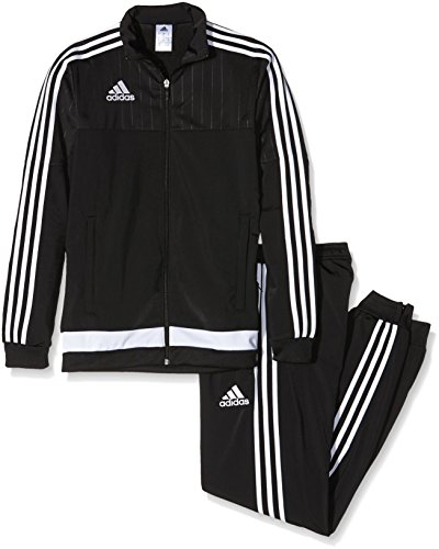 adidas Herren Sportanzug Tiro15 PES Suit Trainingsanzug, Black/White, XS