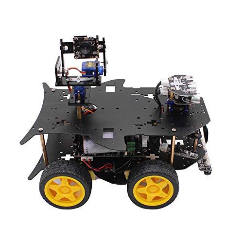 Kecheer Raspberry Pi WiFi Smart Robot Kit für 4B / 3B + Programmierbare Robotice 4WD Truck Zielverfolgung Videoübertragung STEM Educational Robot Line Follower Ultraschallsensor und App Control 4G