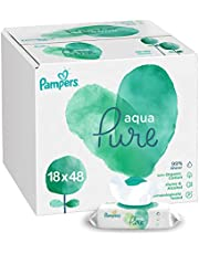 Pampers Aqua Pure Baby Wipes 99% Water, 864 Count