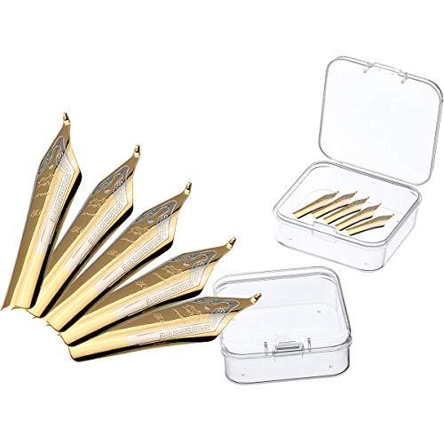 5PCS Fountain Pen Nibs Fit Jinhao 159/450/750, Universal design broad, Gold tip 1.0mm Calligraphy Fude Nib