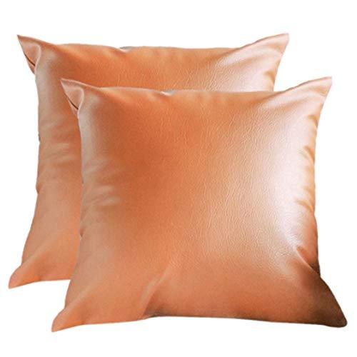 Heritan 2 fundas de cojín vintage de piel sintética para coche, sofá, decoración de sofá, funda de almohada