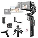 3-Axis Gimbal Stabilizer for Mirrorless Cameras Sony a6300/a6600 A7R3 RX100 III Gopro 8/7/6/5 DJI Osmo Action Camera Smartphone iPhone 11 pro Max X 8plus Samsung S10+,1.98lb Max Payload, MOZA Mini-P