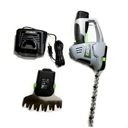 EGO Power 12V Akku Grasschere CHT2001E mit 1.5Ah Akku und Ladegerät 200mm Schnittlänge bei 8mm Zahnabstand (Heckenschneider)