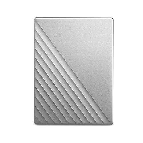 Disco Duro Portátil My Passport De 2 TB con Protección por Contraseña Y Software De Copia De Seguridad Automática,Silver-4TB