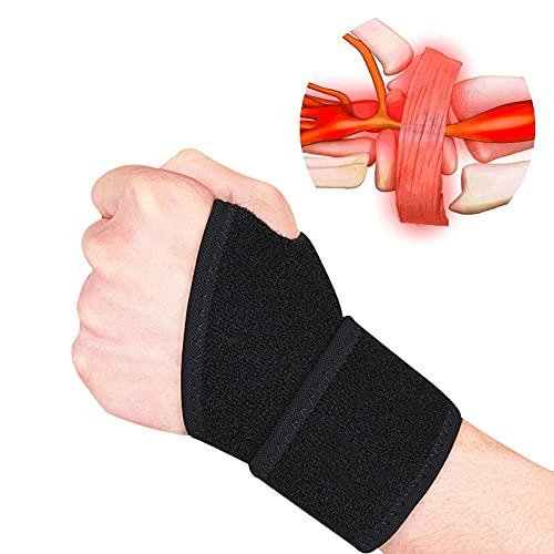 Cinghie di compressione da polso in confezione da 2 e fasciatura da polso Benda da polso sportiva per fitness, sollevamento pesi, tendinite, artrite del tunnel carpale, sollievo dal dolore…
