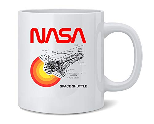 Poster Foundry Space Shuttle Diagram NASA Approved Ceramic Coffee Mug Tea...