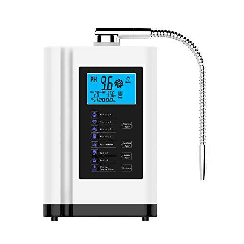 Ionizador de agua alcalina hasta -500mV ORP PH 3.5-10.5 Máquina purificadora de agua Inicio Filtro de agua alcalina 6000L por filtro 8 configuraciones de agua