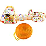 キッズテント 子供テント 折り畳み式 トンネル 収納バッグ付き 秘密基地 海洋ボールプール ボールハウス 知育玩具 お誕生日 入園 出産お祝い プレゼント 3歳以上の男の子 女の子 黄色