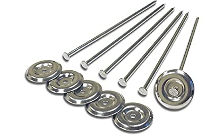 Prest-O-Fit 36923 2-2001 Patio Rug Stakes - Pack of 6 Silver from Prest-O-Fit