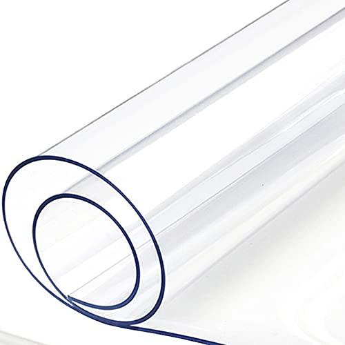 GSPURS Mantel Transparente,Mantel De PVC Impermeable,Tapete De Mesa Anti-Calor Almohadilla Protectora,manteles para Interiores y Exteriores,Cocina,Escritorio(Color:1.5mm,Size:70x70cm)