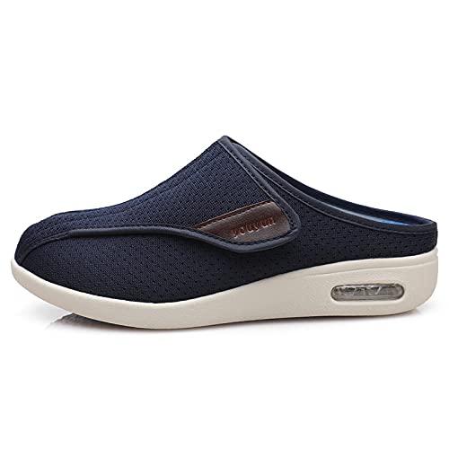 CCSSWW Zapatos para El Hogar De Ajuste Ancho para DiabéTicos,Zapatillas Casa Hombre Cerradas Mujer Verano-Azul_42,Zapatos DiabéTicos Respirable Zapatillas