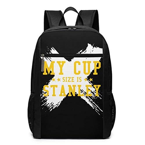 Ahdyr Zaino novità My Cup Size is Stanley Travel Backpack, Zaino Water Resistant College School Computer Bag Zaino per laptop da 17 pollici