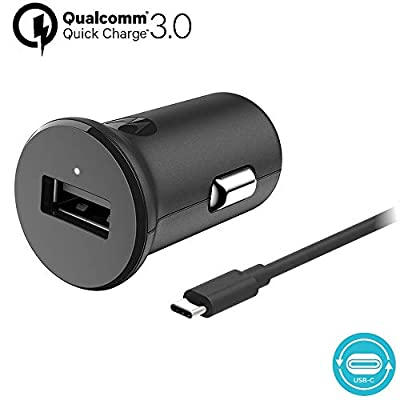 Motorola Original TurboPower 18W QC3.0 Car Charger with detachable 1m (3. 3ft) USB-A to USB-C cable in retail box with Authentication Label and User Guide