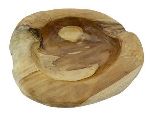 Möbelbörse Teakholzschale Durchmesser 30cm Teakholz Schale Obstschale Holz Deko Schale Massiv Hochwertig