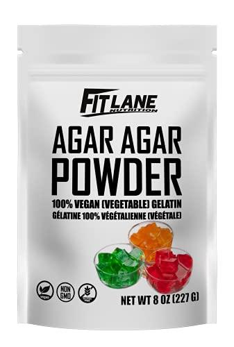 Agar Agar Powder. Vegan (Vegetarian) Gelatin. Non GMO, Gluten Free and Nutrient Rich. 8 oz Bag, Unflavored.