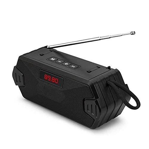 Altavoz Bluetooth inalámbrico portátil, columna de bajo de altavoz de altavoces de subwoofer con radio FM para TF Tarjeta USB MUC MUCT MUSIC PLAY PARA PISTACIONES DE PIEZA DE PISTACIONES DE PISTACION
