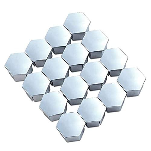 MZWNQ Tapa de Tuerca de Rueda Nuevo 16 Uds 19mm Tapón de Tornillo de neumático Tapón de Perno Hexagonal métrico Tuerca de Rueda Decoración de Cubierta de llanta, para Peugeot 307/308/408/206/207