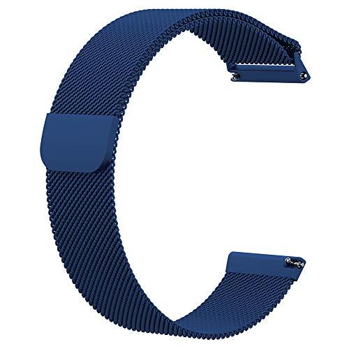 Liwua Correa de Pulsera Milan Fitbit Versa Lite Versa 2 Correa de Cinta de Acero Inoxidable para Fitbit Versa Fitness Watch Blue-L