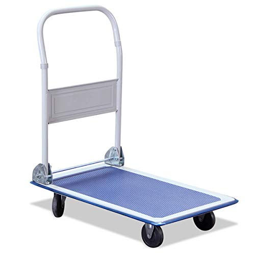 G-Rack Carro de Plataforma Industrial Plegable para Cargas Pesadas - con Neumáticos Antipinchazos y Capacidad de Carga de 150 kg