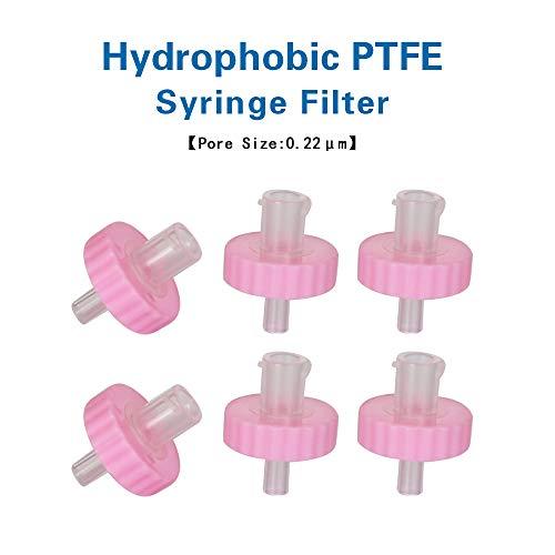 Allpure Biotechnology - Filtros de jeringa hidrofóbica de PTFE no esterilizados, diámetro de 17 mm, tamaño de poros 0,22 μm, para filtración industrial [caja de 100 unidades], PTFE-17mm-0.22μm, Rojo