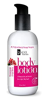Bon Vital BV Spa Moisturizing Body Lotion Pomegranate Acai Scented Body Silk for Dry Skin Repair for Women Moisturizer with Essential Oils for Soft Skin