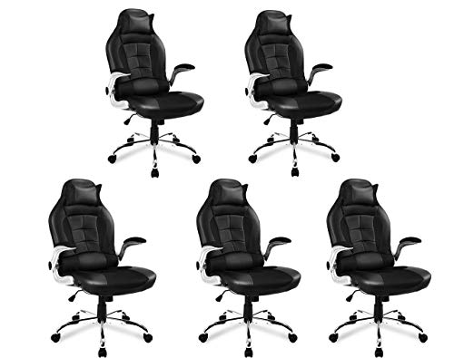 AUTOKOLA HOME office chairs Gaming Chair Recling Esports Chairs Computer Desk Chairs PU Leather High Back Swaivel Adjustable Lumbar Support